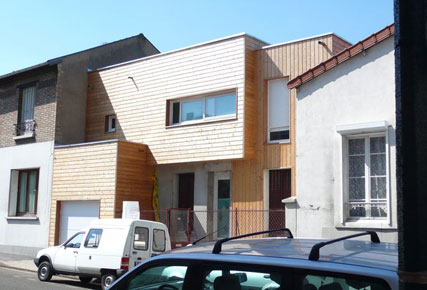 Extension sur l vation d une maison 92 philippe gobin for Extension maison 92